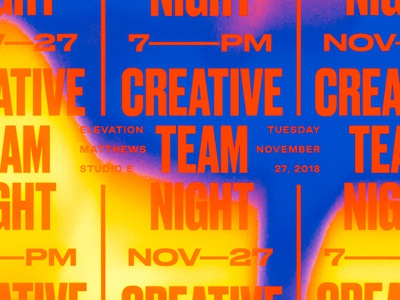 Creative Team Night vector shirt design screenprint vintage printed packaging type texture layout grids system lines pattern badge logo typography branding