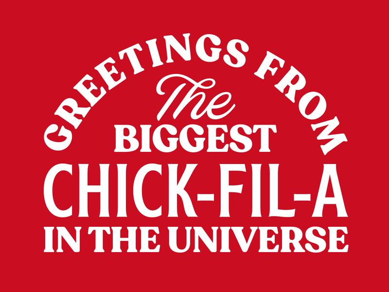 Chick-Fil-A Apparel chicken chickfila vector design shirt line work screenprint vintage apparel printed type layout system pattern logo badge typography branding