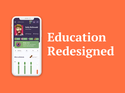 Education redesigned typography dashboard uidesign platform app e-learning edtech medium clean ui ux