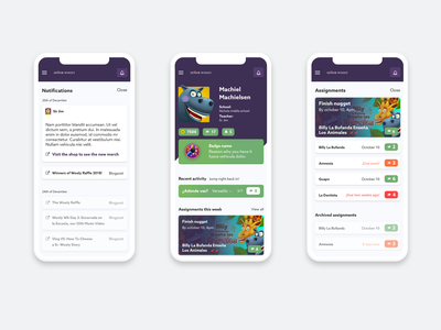 E-learning platform (case) overview games notification account e-learning webapp typography minimal ux app clean ui