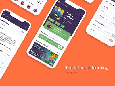Future of learning (new blog post) concept idea write design minimal e-learning ui  ux ui future blog