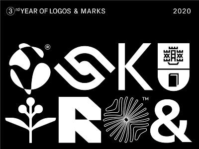 3rd year of logos & marks logofolio brand typography icon mark branding symbol logo logotype andstudio