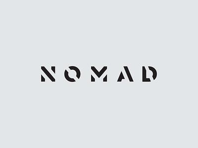 Nomad brandmark minimal branding identity n logo logotype type mark brand nomad andstudio