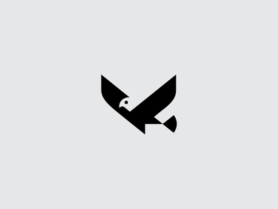 Kastu Bird branding brand eagle negative space geometric logo logotype symbol bird