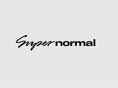 SUPERNORMAL bold typography sunglasses wordmark normal super brand fashion
