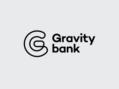 Gravity mark minimalistic logo line gravity g finance digital branding banking bank app andstudio