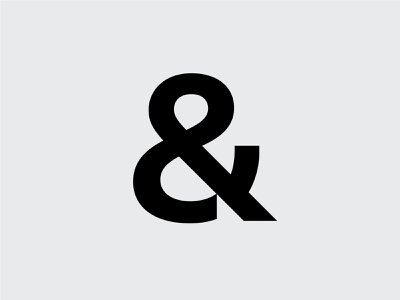 &andstudio letter icon symbol branding typography andstudio logotype logo clean minimal type bold mark ampersand