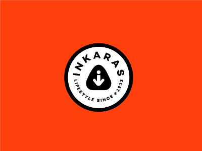 Inkaras sneakers shoes andstudio brand minimal typography mark branding logo symbol logotype