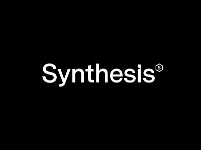 Synthesis design vector brand minimal andstudio typography branding logo logotype