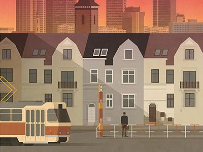 Novy prostor magazine cover cover public transport prague