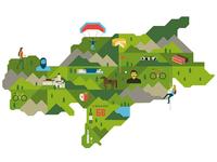 South Tyrol map
