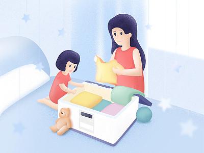 Parental Illustration shopping home parental illustration