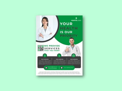 Medical or Healthcare Flyer Template Design professional flyer creative flyer corporate flyer business flyer corporate business flyer template flyer design template design flyer health care hospital clinic healthcare medical