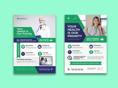 Medical Social Media Post Template clinic flyer design healthcare flyer design medical flyer design template design flyer hospital clinic healthcare medical