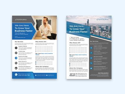 Business Flyer Template Design flyer template flyer design digital marketing agency marketing agency marketing digital corporate business