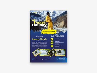 Travel Agency Flyer Template Design corporate flyer business flyer tourism agency flyer travel agency flyer tourism flyer travel flyer