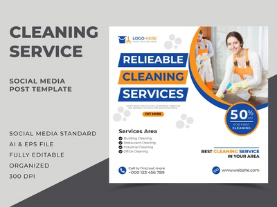 House Cleaning Service Social Media Post Template home cleaning service house cleaning service cleaning service banner template banner design web banner social media banner social media post