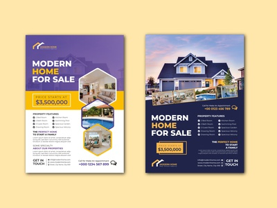 Real Estate Flyer Template Design corporate flyer business flyer real estate flyer flyer design flyer template real estate agency real estate home for sale house for sale home sale house sale apartment selling