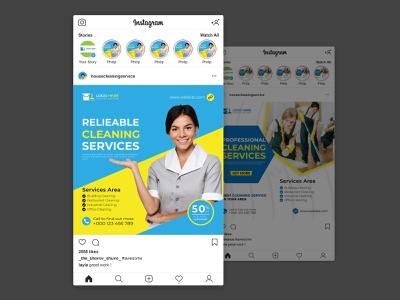 Fashion Sale Social Media Post Template Design cleaning social media banner cleaning web banner cleaning social media post web banner social media banner social media post home cleaning service house cleaning service