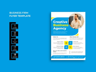 Business Firm Flyer Template Design design flyer creative marketing agency flyer marketing flyer corporate flyer business flyer digital marketing agency marketing agency marketing firm business firm