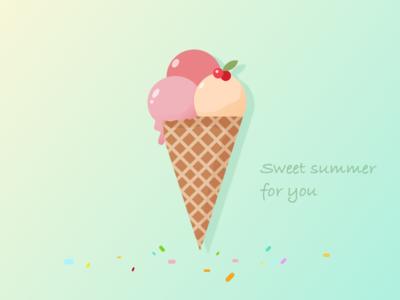 Ice cream illustration exercises