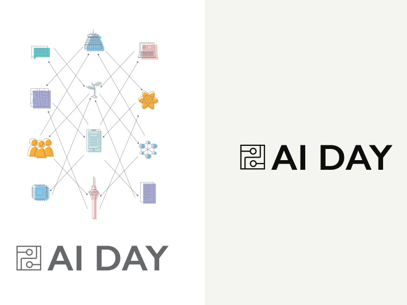 Ai Day - Concept 3 illustrator graphic logo event day event new zealand  auckland city artificial