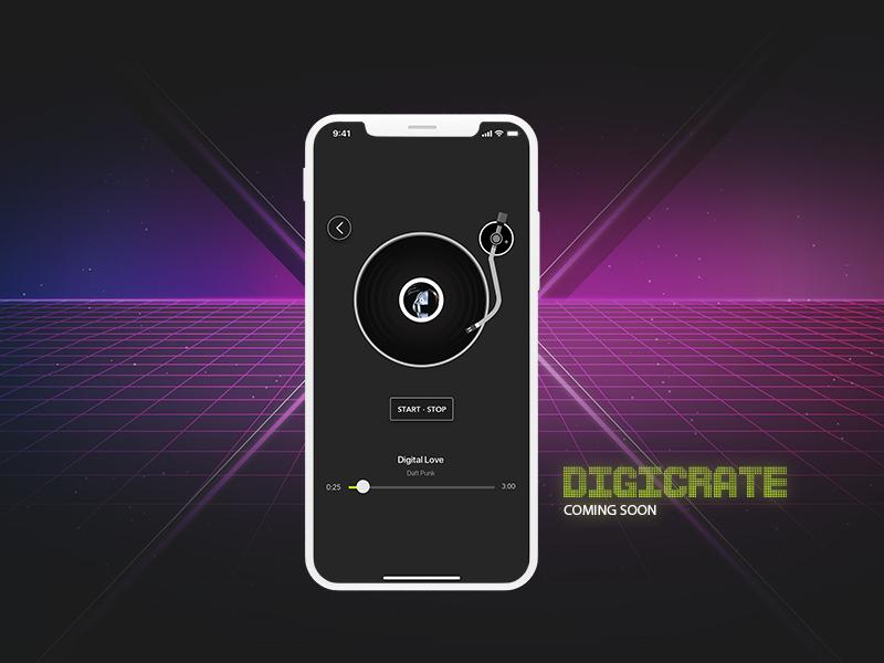 Digicrate music ui iphonex