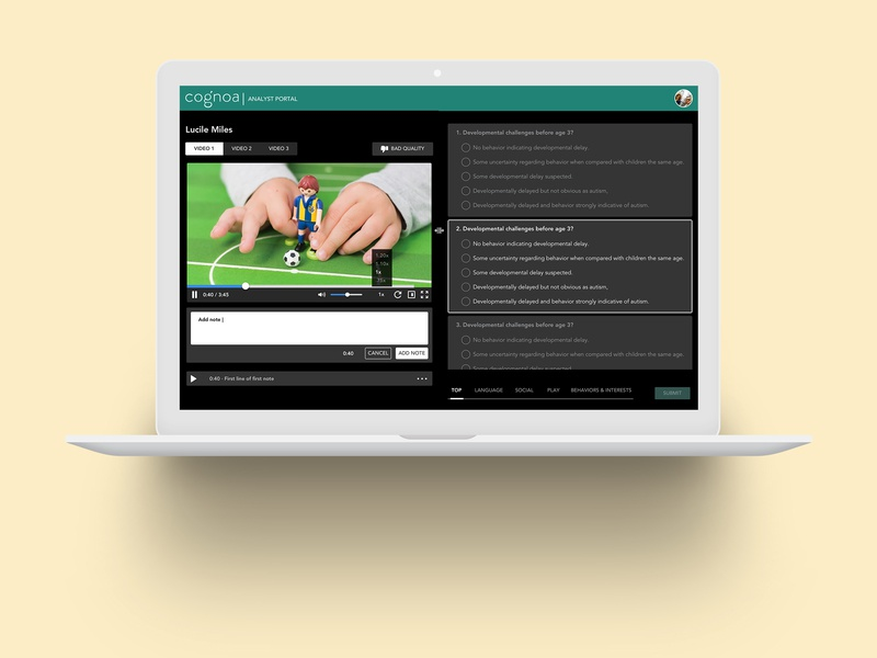 Video Analyst Portal web