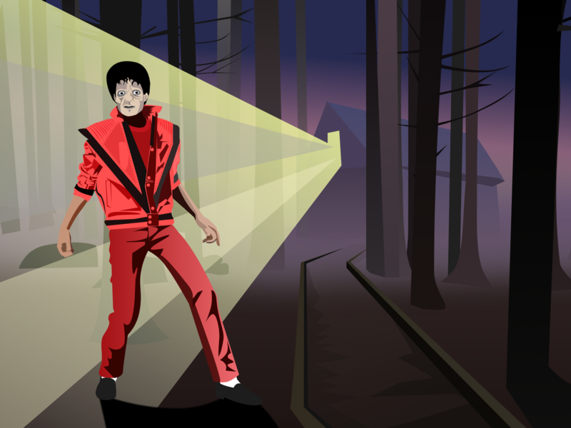 Thriller 2018 vector michael jackson thriller sketch