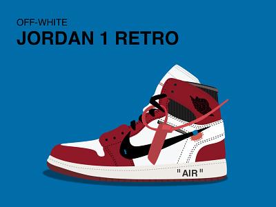 Jordan 1 Retro jordan nike shoes vector sketch