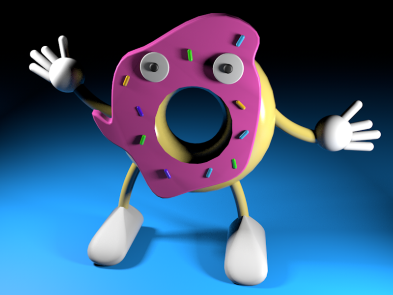 Donut Man donut 3d cinema4d
