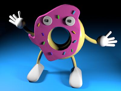 Donut Man donut 3d cinema4d