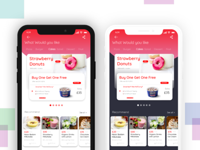 Food Delivery App-Light and Dark