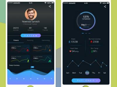 Fitness Dark app