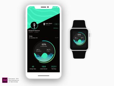 Running  Tracker App Green