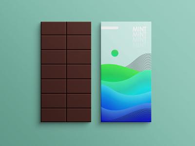 Chocolate Packaging flavor mint green gradients chocolate packaging abstract colors branding vector blend tool illustration design