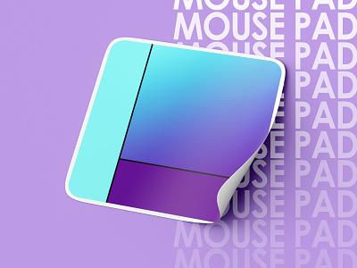 Mouse Pad Concept minimal purple blue gradient mouse pad colors painting blend tool vector illustration design