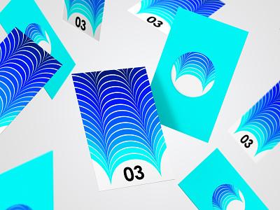 Ocean Logo Concept illustrator logo design blue ocean logo concept vector abstract blend tool logo branding design illustration graphic design
