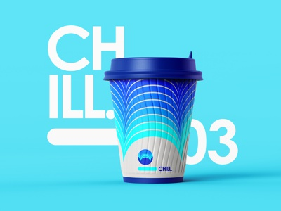 Chill Soft Drink graphic design softdrink adobe colors abstract branding blend tool vector illustration merchandise