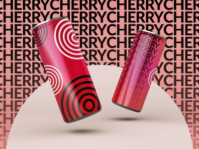 Cherry Drink! journey adobe creativity concept design soft drink graphic design colors typography abstract branding blend tool vector
