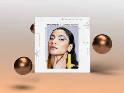 Makeup Trends! lines colors layout elegance style fashion makeup marketing design campaign branding graphic design social media agency work