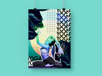 International Yoga Day abstract graphic design
