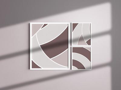 Neutral illustration graphic design