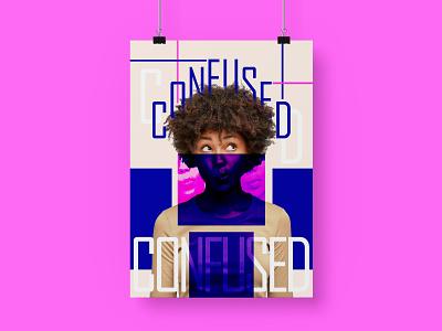 Confused! poster graphic design branding vector illustration design
