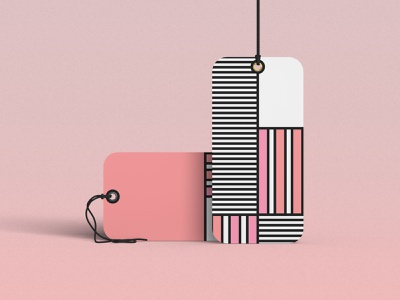 Label Concept colors pastels lines abstract graphic design branding vector illustration design