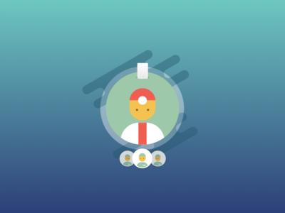Profiles Badge  staff doctor icon illustration ios