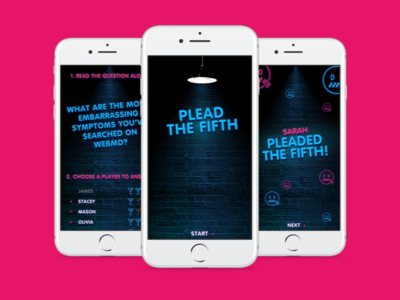 Plead the Fifth neon game ios