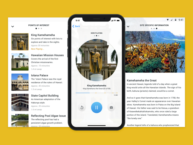 iOS Guided Tour Media Player Controls media player interface design ui ios ux controls