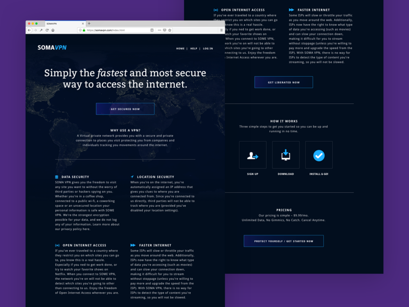 Soma — the fastest and most secure way to access the internet. illustrations icon website ux design design marketing campaign vpn