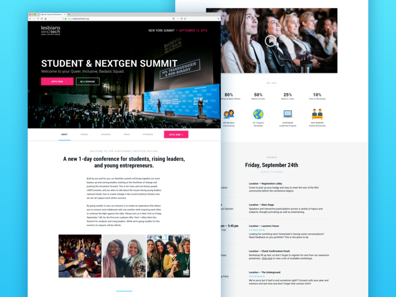 Lesbians Who Tech: Summit Refresh conference marketing design refresh ui ux interface